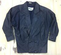 WILSONS LEATHER - Vtg 80s-90s Womens Purple Suede Blazer Jacket Coat, MEDIUM