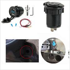 Dual USB Car Charger Adapter Cigarette Lighter Socket Digital Voltmeter Meter