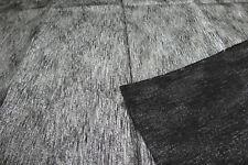"""Black silver thread fabric remnant 76x110 cm (30x43"""")"""