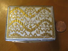 German Pierre Fromery c-1738/French 1750 sterling silver porcelain snuff box.