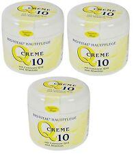 (3,99€/100ml)  3x Q10 Antifalten Creme Salbe Coenzym Allantoin 125ml Pflege