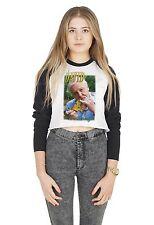 Sir David Attenborough Crop Raglan Tee T-shirt Top Cropped Tumblr Retro 90's Bae