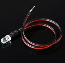20x 3mm LEDs 12Volt prewired . . . 10 BRIGHT WHITE . . .  10 RED