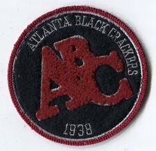 "1938 ATLANTA BLACK CRACKERS NEGRO LEAGUE BASEBALL 3.25"" TEAM PATCH"