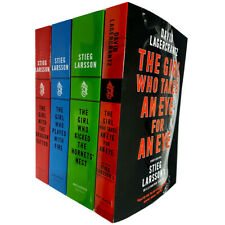 Dragon Tattoo story 4 Books Collection Set Girl Who Takes an Eye for Eye New PB