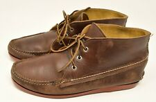 Quoddy Kennebec Leather Chukka Boot 11 Handmade Brown / Red USA
