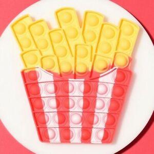 Fries Push it Bubble Pop Fidget Sensory Toy ADHD Stress Reliever Gift Toys