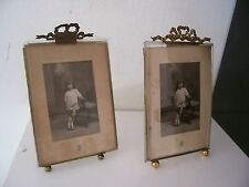 Two old photo frames. Anciens cadres photos