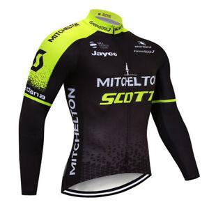 2021 Men Cycling Long Sleeve Jersey Bib Pant Kit Bicycle Bike Shirt Team Clothes