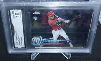 2018 Topps Chrome Victor Robles Rookie Card #175 GMA Graded Gem Mint 10