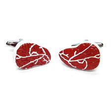 Rib Eye Steak Design Cufflinks & Organza Pouch