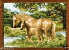 RIOLIS Cross stitch kit Horse with foal 1258, 40x30 cm