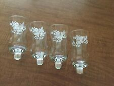 Box 4 Embossed Hummingbird Votive Cup Candle Holders Grommet Homco Home Interior