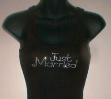 """VICTORIA'S SECRET SPARKLING """"JUST MARRIED"""" TANK TOP BLOUSE MEDIUM **NWTS**"""