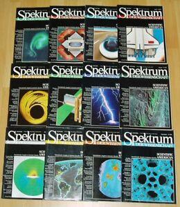 Spektrum der Wissenschaft 1989 komplett Jahrgang Sammlung Zeitschrift Science