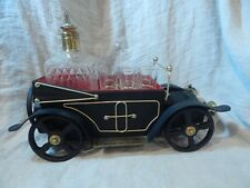 Vintage Bar Car Music Box and Decanter Set - Metal Car Decanter with 6 Glasses