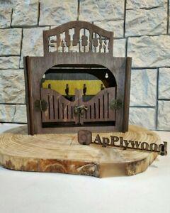 Home wall mount key hanger key decor organizer Wild West Saloon handmade