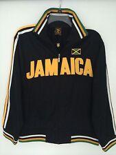 Futbol Athletic Sports Soccer Jacket in Black with Jamaica Logo Sz Medium - 5SUN