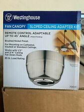 WESTINGHOUSE Brushed Nickel Fan Canopy Sloped Ceiling Adapter Kit 70031