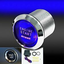 Start Push Button Blue Illumination Car Engine Switch Ignition Starter Touch Kit
