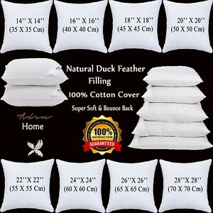 Duck Feather Cushion Pads Premium Quality Feather Filled Pillow Inserts Fillers