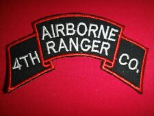 Korea War (1950-53) Us Army 4th Airborne Ranger Infantry Company Scroll Patch