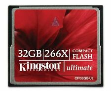 32GB Kingston Ultimate Compact Flash Memory Card 266x 39MB/sec CF/32GB-U2 32 GB
