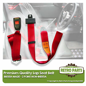 Adjustable 2 Point Lap Seat Belt for Nissan Datsun 100 A. Safety Strap In Red