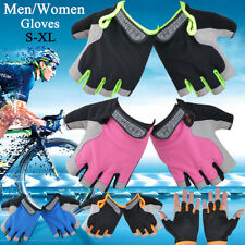 Cycling Gel Gloves Fingerless Non-Slip Unisex Gym Fitness Sports Workout Gloves