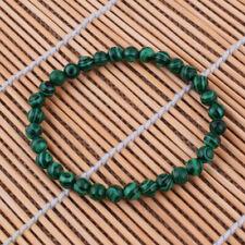Women Bracelet 6mm Malachite Jasper Beaded Stretch Bangle Wristband Lady Gift
