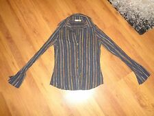 PIRO BY KLAUS BERGGREEN MULTICOLORED TEXTURED STRIPED SLIM FIT SHIRT-S,8-UK
