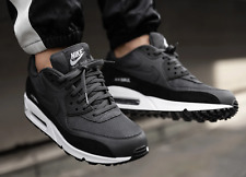 BNWB & Genuine Nike ® Air Max 90 Essential Anthracite & Black Trainers UK Size 8