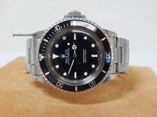 """1989 Vintage Rolex Non Date SS Submariner 5513 Warranty """"L"""" series"""