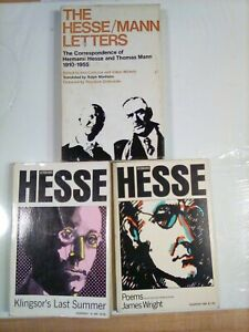 LOT OF 3 NOVELS+COLLECTION OF POETRY BY HERMANN HESSE VNTG PB