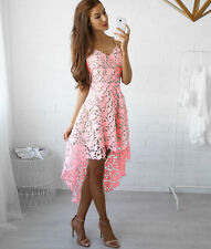 Womens Short Lace Evening Cocktail Party Dress Ladies Sleeveless Long Maxi Dress