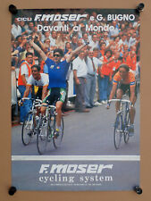 original vintage poster F. Moser Gianni Bugno 48x68cm