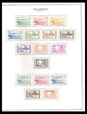 NEW HEBRIDES 1957 ISSUES ON PAGE (LHM) *CLEAN & FRESH*