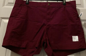 "Women's Burgundy Everyday Mid-rise 3.5"" Shorts Size 18 NEW"