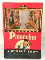 Vintage 1939 Disney Pinocchio Puppet Show Stage & 8 Characters *RARE* FREE SHIP!