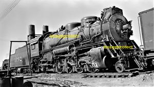 AMARILLO, Tx - Atchison,Topeka & Sante Fe RR Loco 3192 in Feb 1953  6 x 4 inch