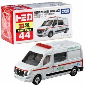 Takara Tomy Tomica Diecast Model Car No44 - Nissan NV400 EV Ambulance