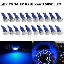 50Pcs Blue T5 1SMD 5050 LED Bulb Instrument Dash Gauge Panel Cluster  Light 12V