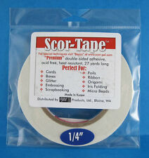 """Scor-Tape Adhesive 1/4"""" x 27yd by Scor-Pal - Value!"""