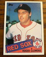 1985 Topps #181 Roger Clemens RC - Color Variation Face -Chin