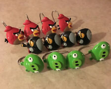 Angry Birds Shower Curtain Hooks, Set of 12