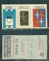 SCUDETTO ADESIVO ORIGINALE PANINI 1970/71*SERIE C- SPAL/SPEZIA/TORRES *NEW
