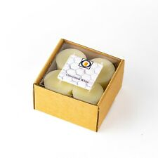 4 White Unscented Scented 100 Percent  Beeswax Votives, Votive Candles, 12 Hour