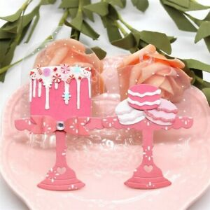 Metal die cuts cake stand macarons Scrapbook card making craft