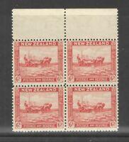 New Zealand 1935 6d Wheat Harvest Block of 4  F/VF UMM MNH