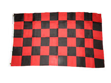 3x5 Advertising Checkered Checker Black Red Knitted Polyester Flag 3'x5' Banner